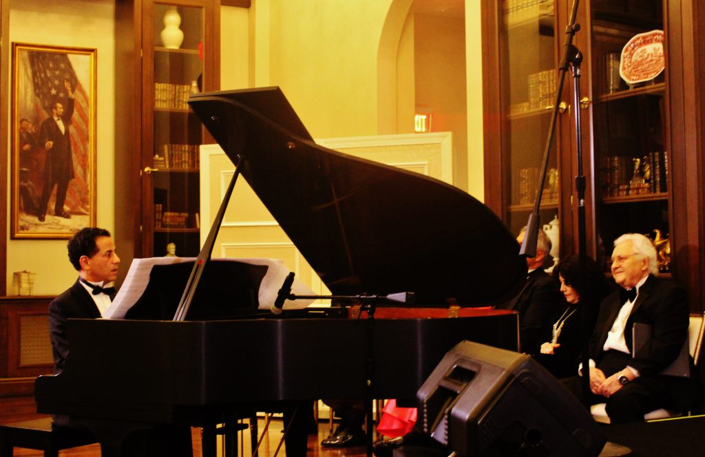 Pascal Salomon performed seven selections as a prelude to the opera performance.