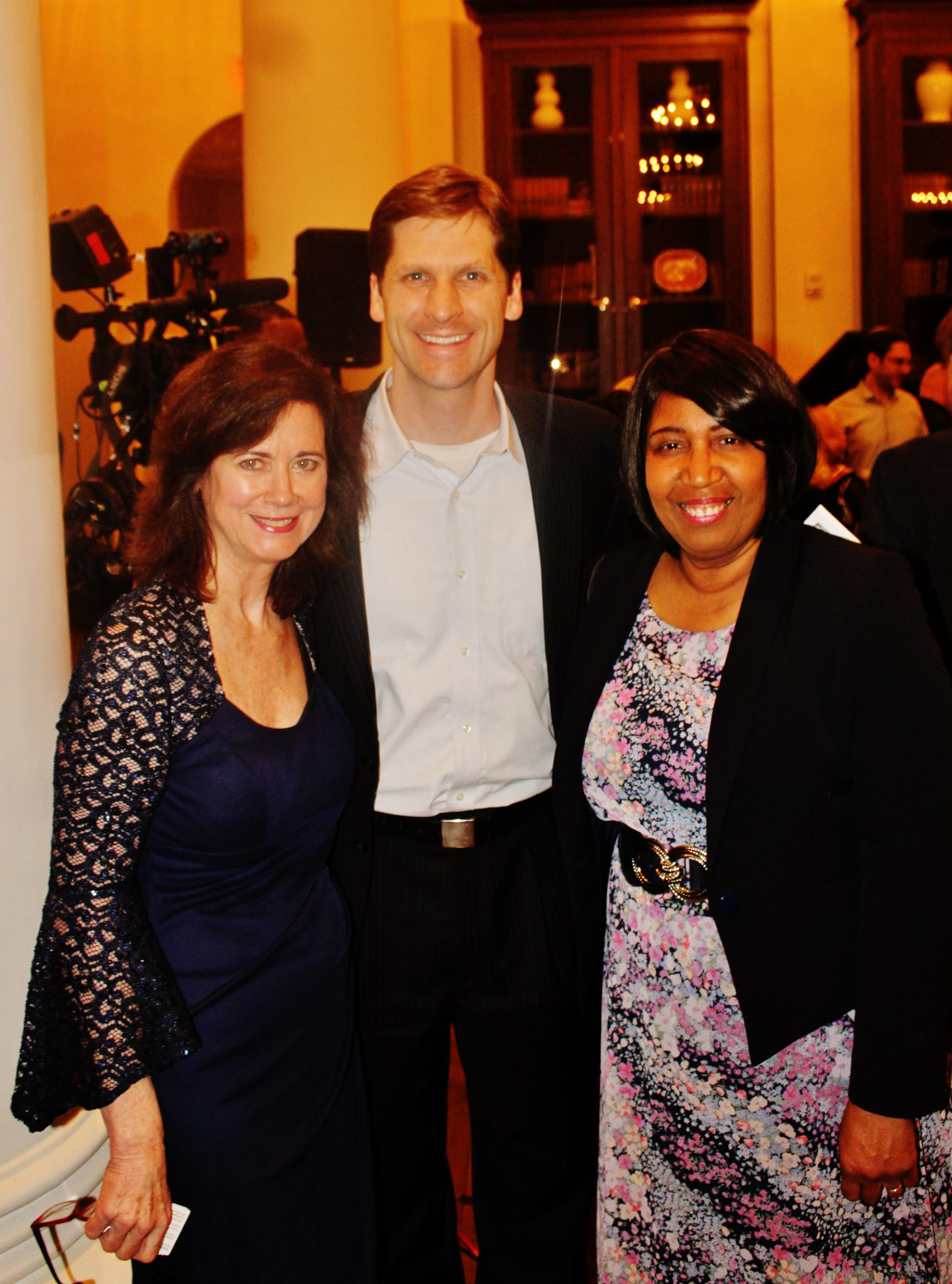 Wendy Ginsberg and Mrs. Candy Carson are jonined by Museum Of The Bible Executive Director Ryan Smith.