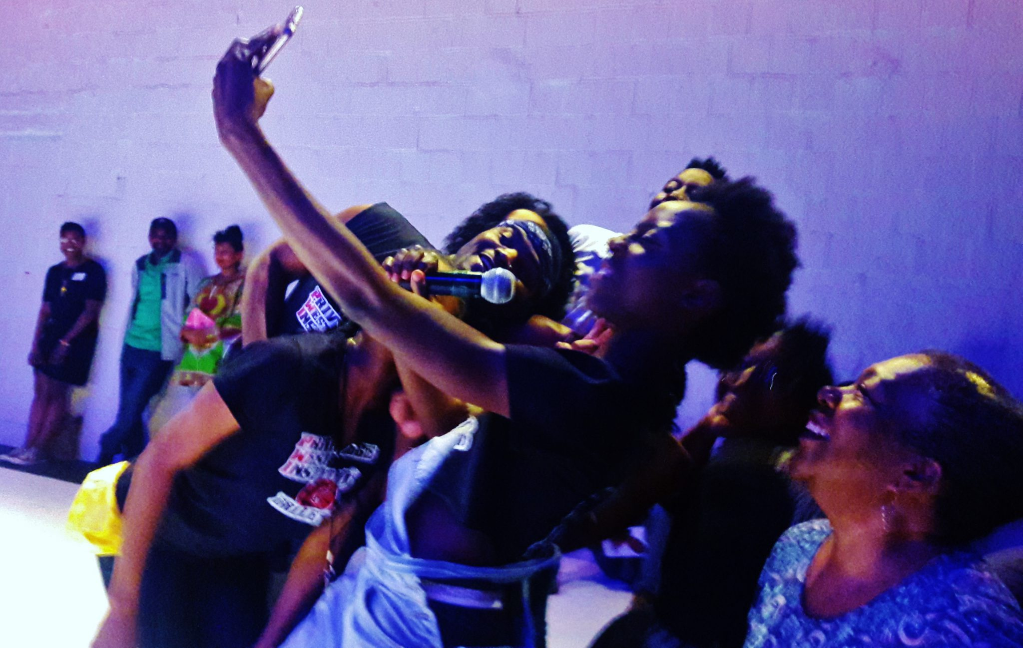 Moriamo Temidayo Akibu was also the Selfie instigator as seniors from the front row couldn't resist joining the dancers.