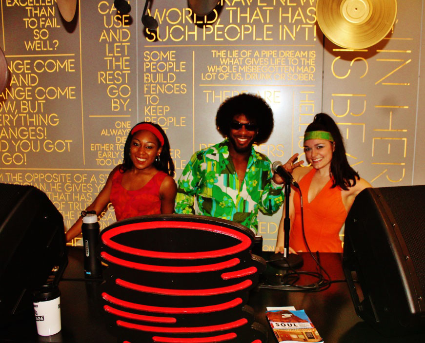 Center Stage total immersion experience with lobby DJ and STAX dancers!