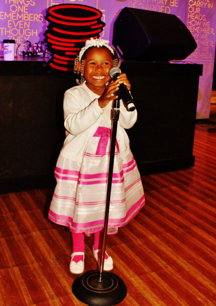 Seven year old Tamryn Taylor-Woods.