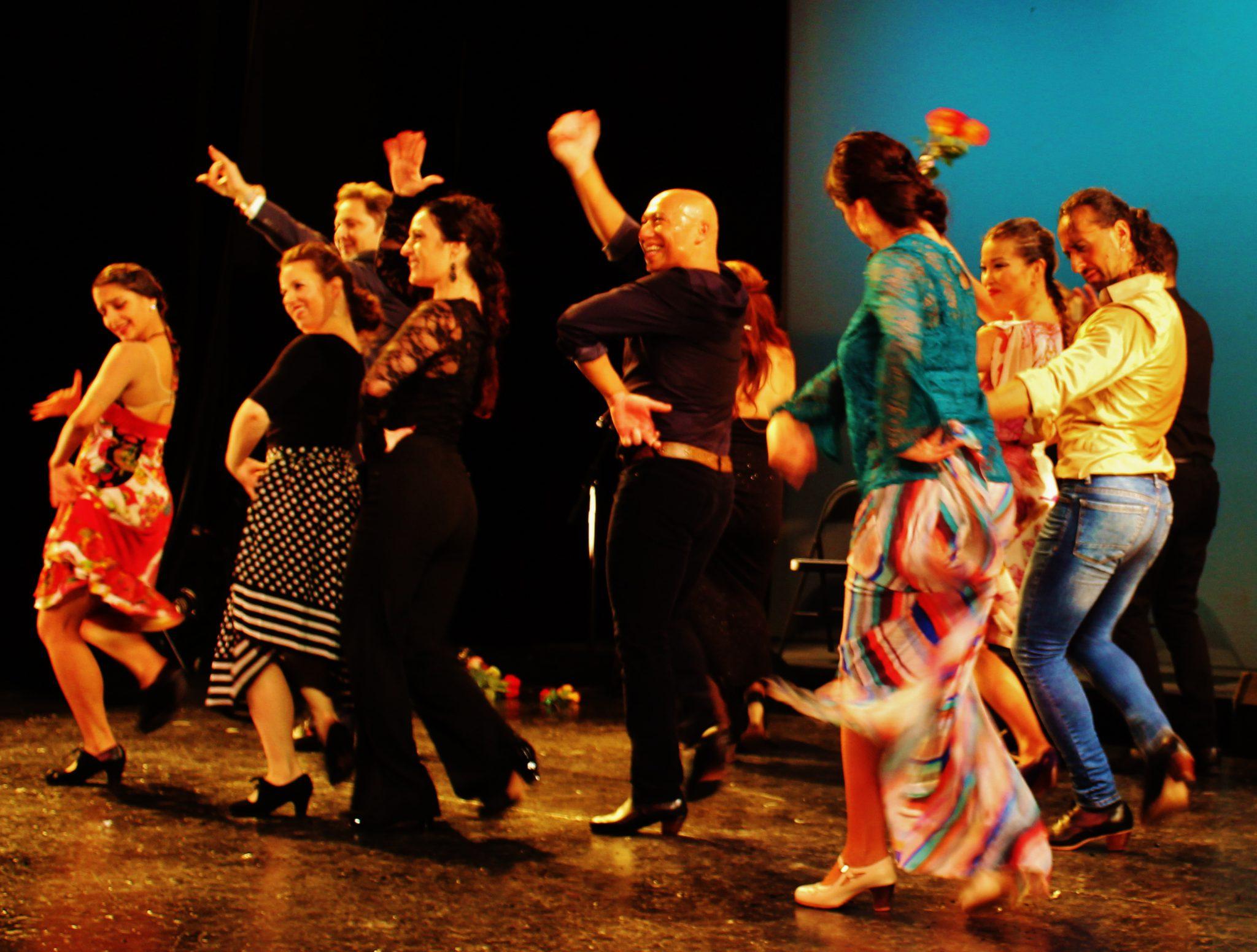 FLAMENCO BAND OF GYPSIES BURNS GALA DANCE STAGE